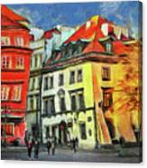 Old Town In Warsaw # 27 Canvas Print