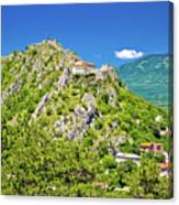 Old Town Knin On The Rock View Canvas Print