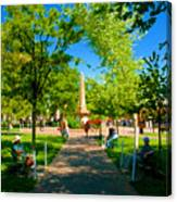 Old Town Square Santa Fe Canvas Print