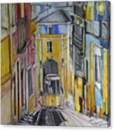 Old Town Streets Canvas Print