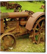Old Tractor Graveyard Canvas Print