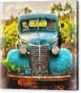 Old Truck At The Winery Canvas Print