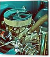 Old Truck Engine Canvas Print