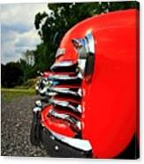 Old Truck Grille Canvas Print