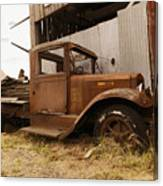 Old Truck In Old Forgotten Places Canvas Print