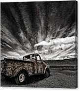 Old Truck (mono) Canvas Print