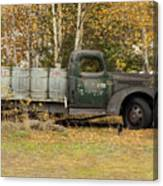 Old Truck With Potato Barrels Canvas Print