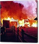Old Tucson Arizona In Flames 1995  Canvas Print