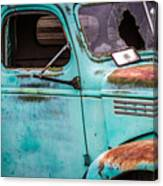 Old Turquoise Truck Canvas Print