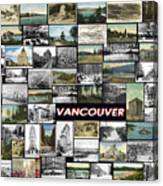Old Vancouver Collage Canvas Print