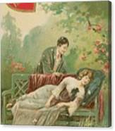 Old Victorian Era Valentine Card Canvas Print