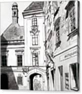 Old Viennese Courtyard Canvas Print