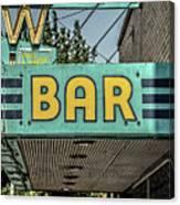 Old Vintage Bar Neon Sign Livingston Montana Canvas Print