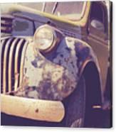 Old Vintage Pickup Truck Utah Square Canvas Print
