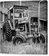 Old Vintage Tractor On A Farm In New Hampshire Square Canvas Print