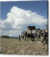 Old Wagon Out West Canvas Print
