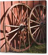 Old Wagon Wheels Canvas Print