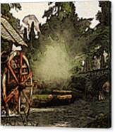Old Watermill In The Forest Canvas Print