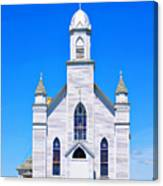 Old Weathered Church On Hill Top Canvas Print