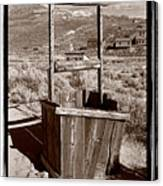 Old Well Bodie Ghost Twon California Canvas Print