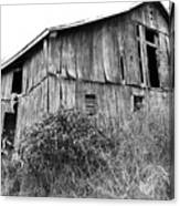 Old West Virginia Barn Black And White Canvas Print