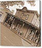 Old Western Town Canvas Print