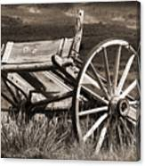 Old Wheels 2 Canvas Print
