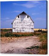 Old White Barn Canvas Print
