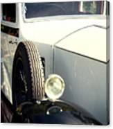 Old White Rolls Canvas Print