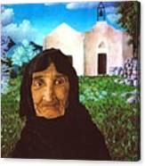 Old Woman Of Kritsa Canvas Print