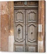 Old Wood Door - France Canvas Print