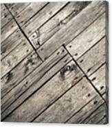 Old Wooden Boards Nailed Canvas Print