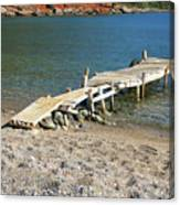 Old Wooden Dock Canvas Print