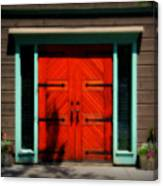 Old Wooden Doors Canvas Print
