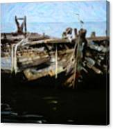 Old Wooden Fishing Boat Canvas Print