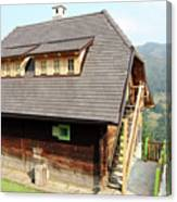 Old Wooden House On Mountain Canvas Print