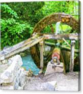 Old Wooden Water Wheel  Canvas Print