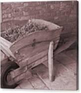 Old Wooden Wheelbarrow Canvas Print