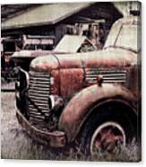 Old Work Trucks Canvas Print