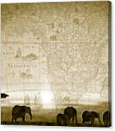Old World Africa Antique Sunset Canvas Print
