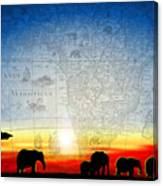 Old World Africa Cool Sunset Canvas Print