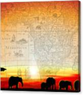 Old World Africa Warm Sunset Canvas Print