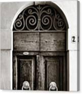 Old World Door Canvas Print