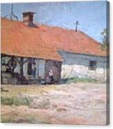 Old  World Slovenian Farmhouse Canvas Print