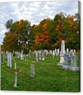 Old Yard Cemetery Stowe Vermont Canvas Print