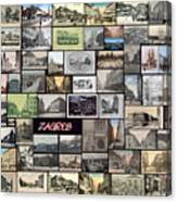 Old Zagreb Collage Canvas Print