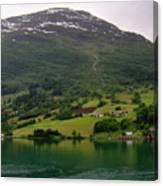 Olden Fjord, Norway Canvas Print