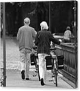 Older Couple In The Park Canvas Print