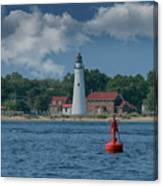 Oldest Lighthouse In Michigan Canvas Print