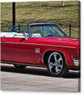 Oldsmobile Delta Royale 88 Red Convertible Canvas Print